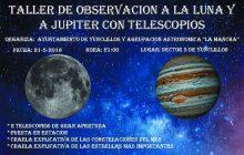 Taller de observación a la Luna y Júpiter con telescopios